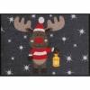 Weihnachtsmatte Fussmatte von Salonloewe in anthrazit rot
